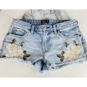 Abercrombie & Fitch Harper Low Rise Flower Shorts